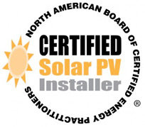 certified solar pv installer by north american board of certified energy practitioners logo