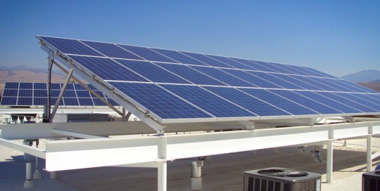 22 KW Roof Mount Solar Array on Commercial Building in Missoula, MT