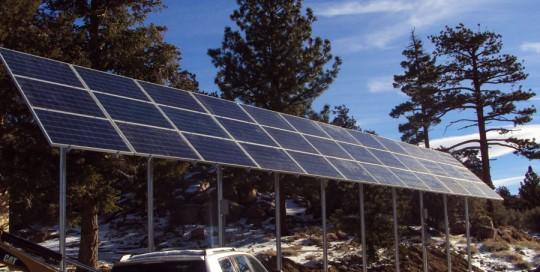 7KW Multi Pole Solar Array near Big Bear City California