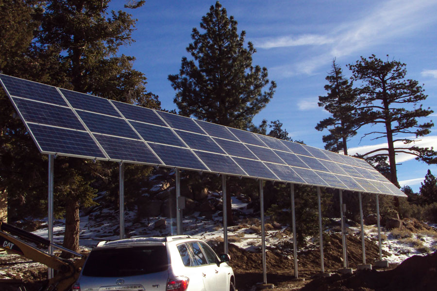 7KW Multi Pole Solar Array near Big Bear City California