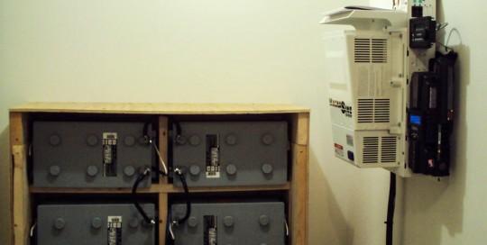 Magnum Inverter and Gel Batteries for Off Grid Solar System in Philipsburg, MT