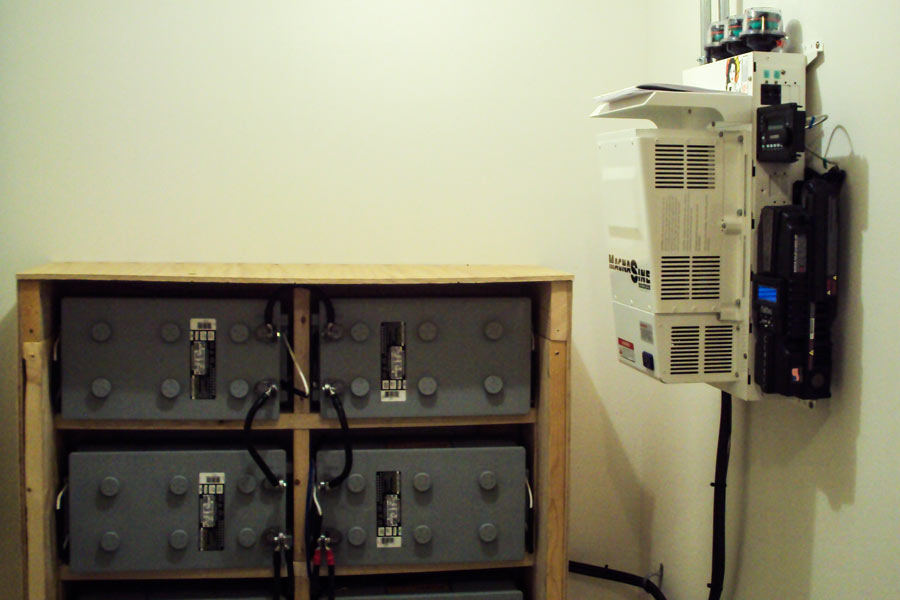 Magnum Inverter and Gel Batteries for Off Grid Solar System in Philipsburg, MT