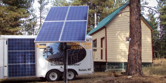 Pole Top Array for Solar Water Pumping near Florence, MT