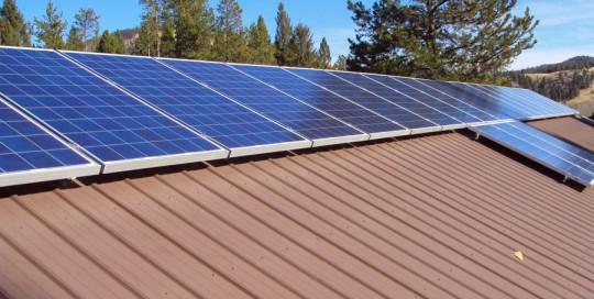 Roof Mount Solar Array near Lincoln, MT