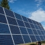pole mounted solar panels with blue sky in montana